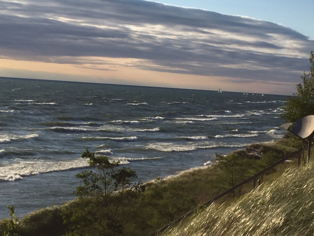 Breakers on shore of Lake Michigan