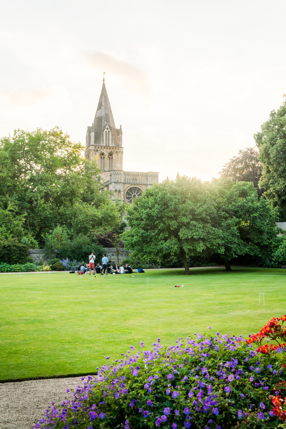 Hanging out on the Christ Church College lawn