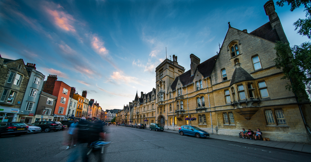 Sunset on Broad Street, Oxford, UK