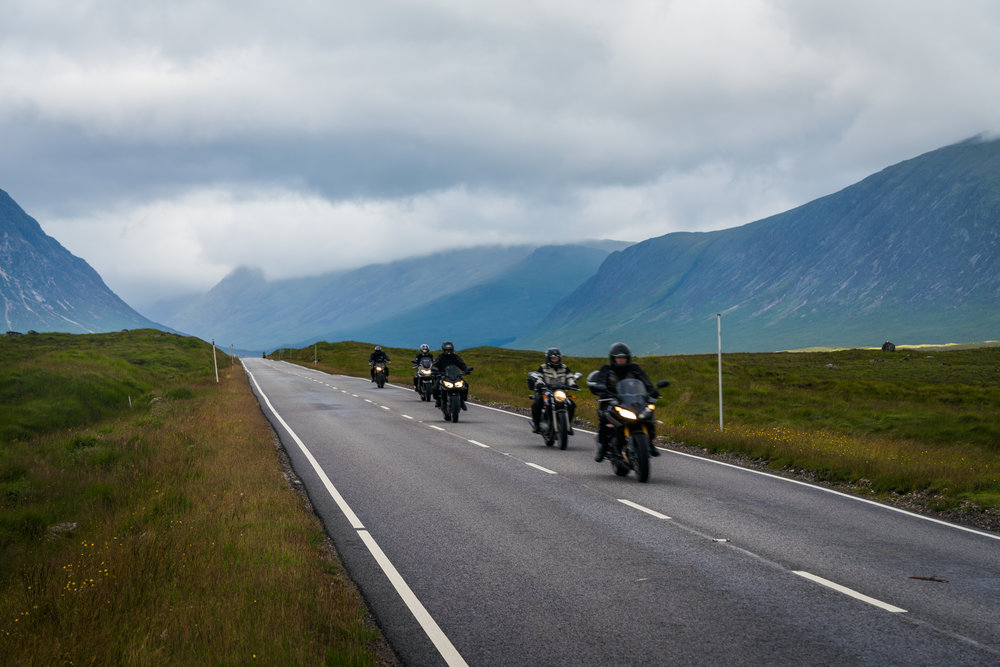 Some of our fellow travelers on the Glencoe Road