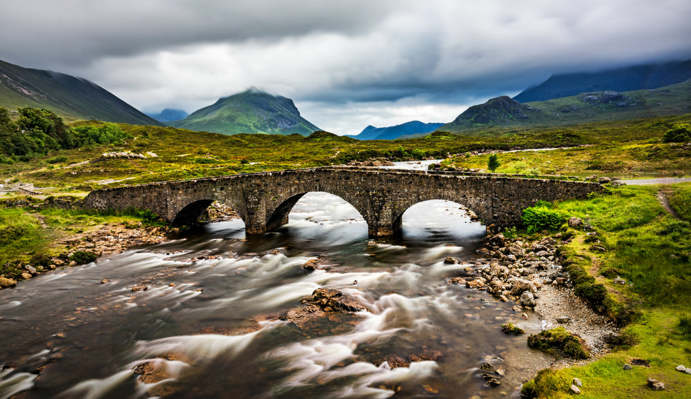 The  Old Sligachan Bridge  on Isle of Skye