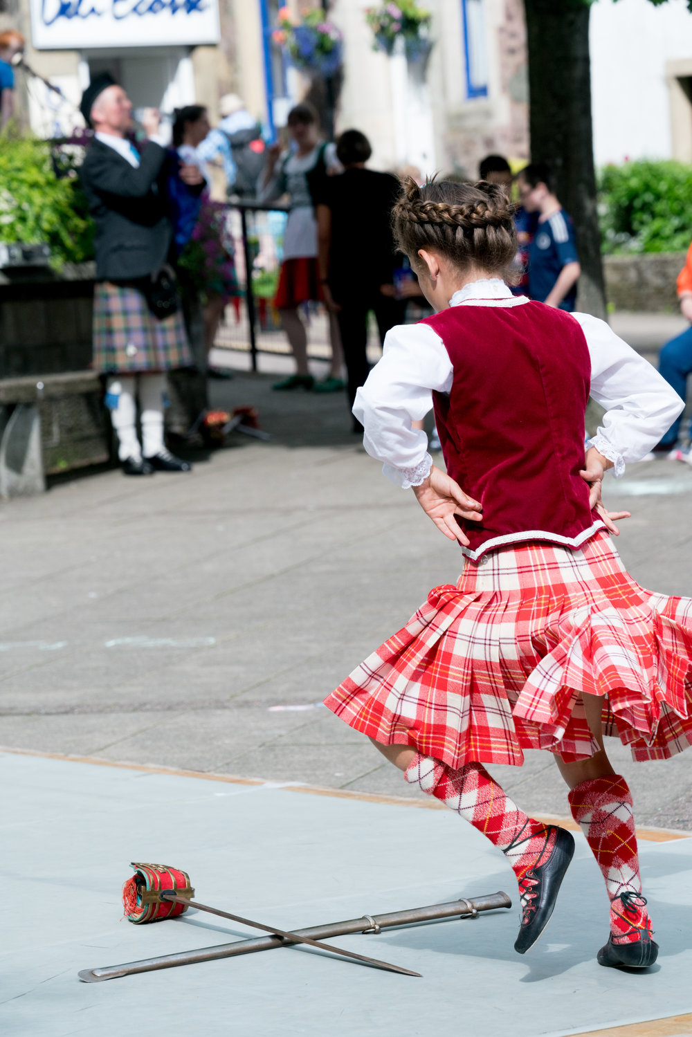 Dancing the Scottish sword dance