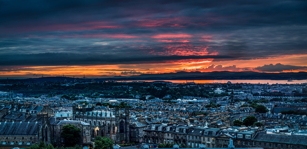 We had a long, spectacular sunset over Edinburgh