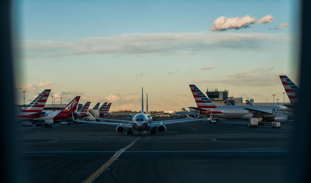 American Airlines (and TAM) at JFK Airport in New York City