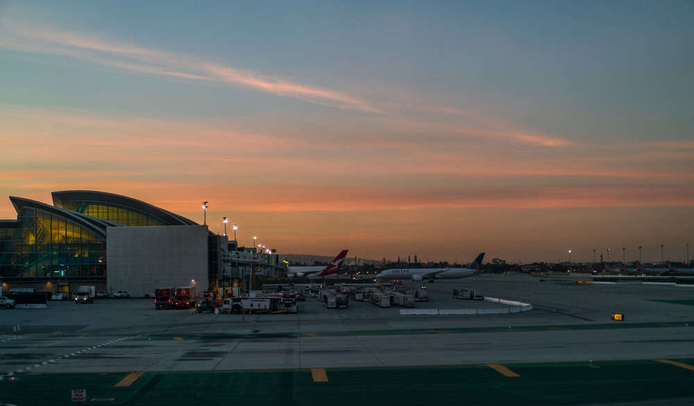 LAX World Airport sunrise