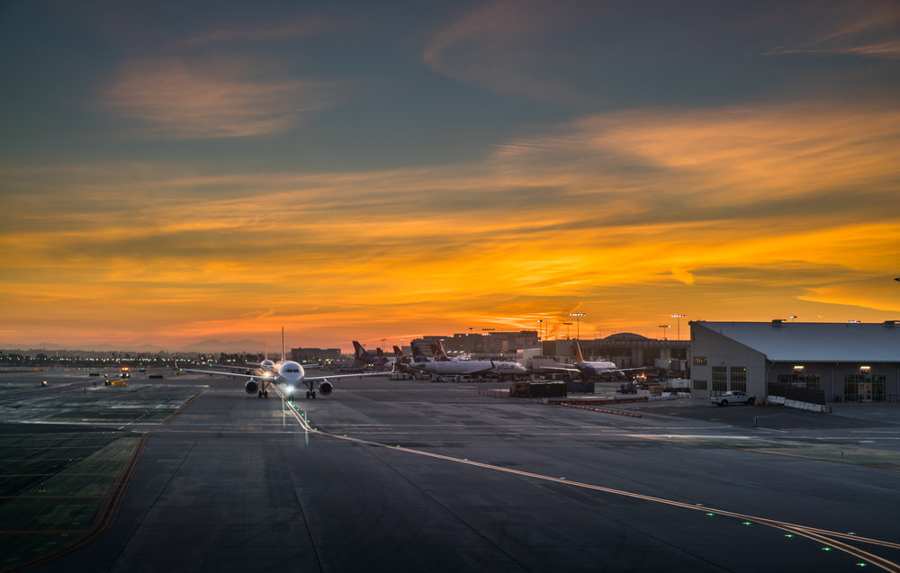 Sunrise over LAX