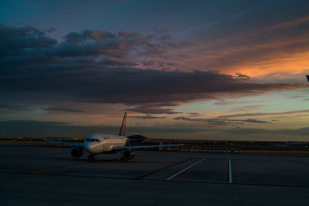 Delta Denver sunset