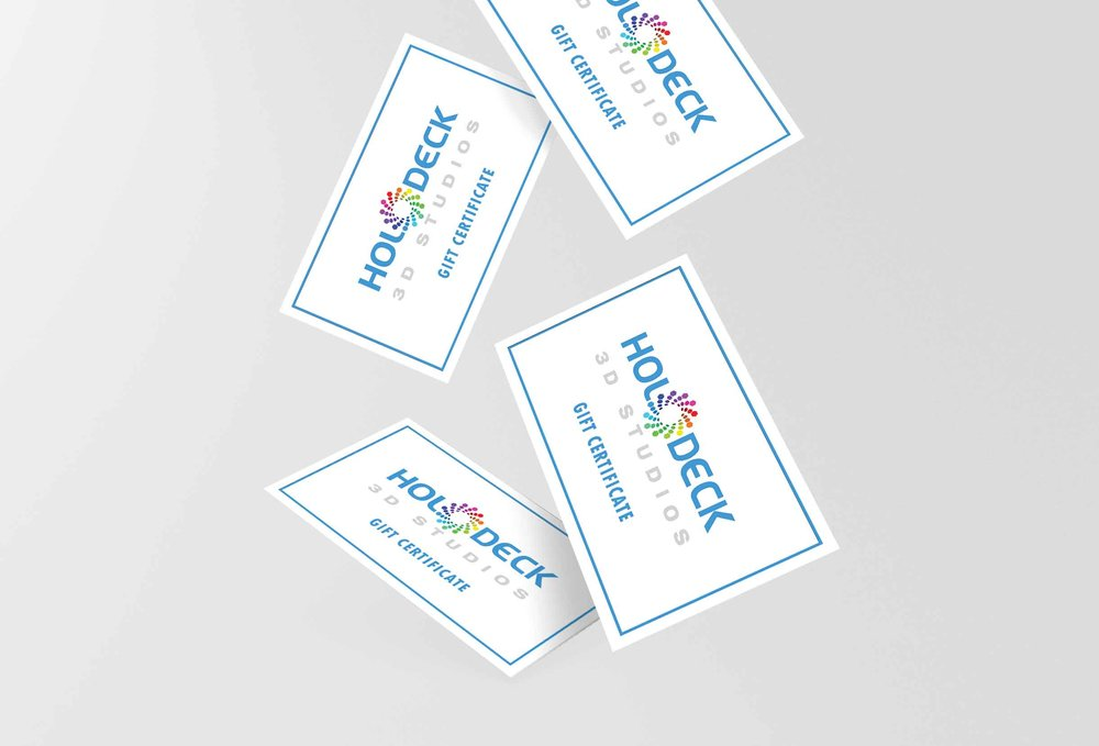 Holodeck 3D Gift Cards