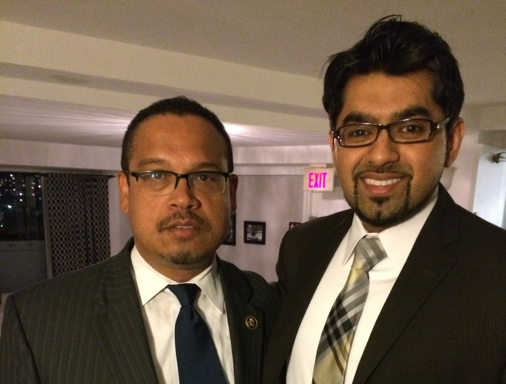 Dr. Chaudhry with Congressman Ellison