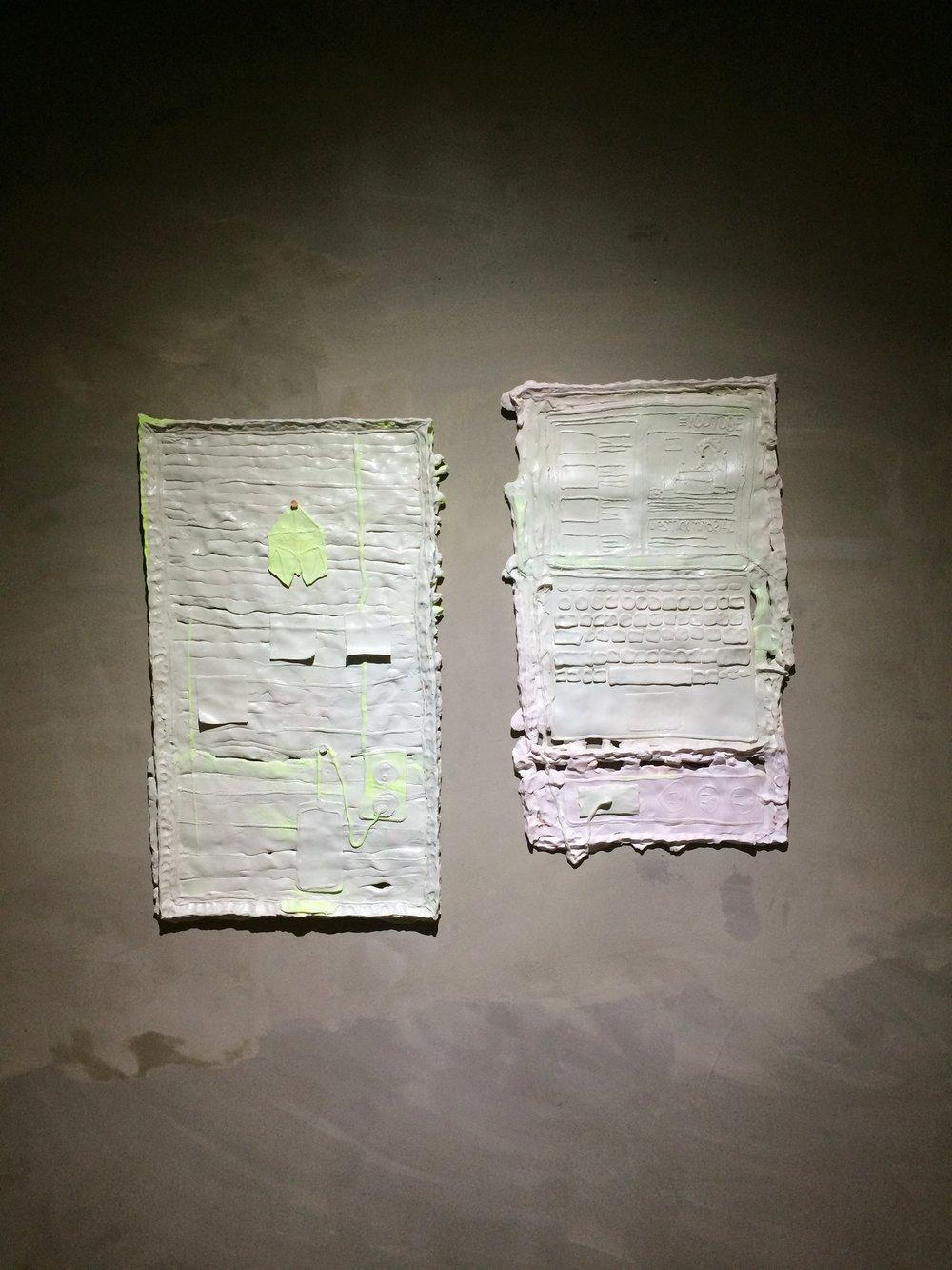 Untitled (still life)  Stoneware, spray paint  2017