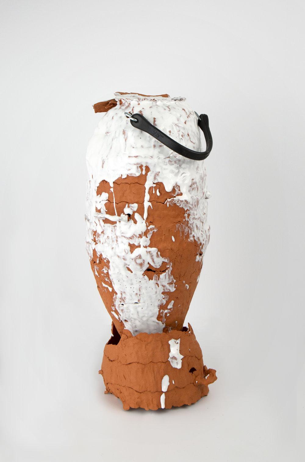 Smart Strap  Earthenware, glaze, rubber, metal  2018