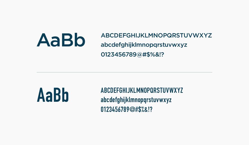 Liaison Room visual identity typefaces