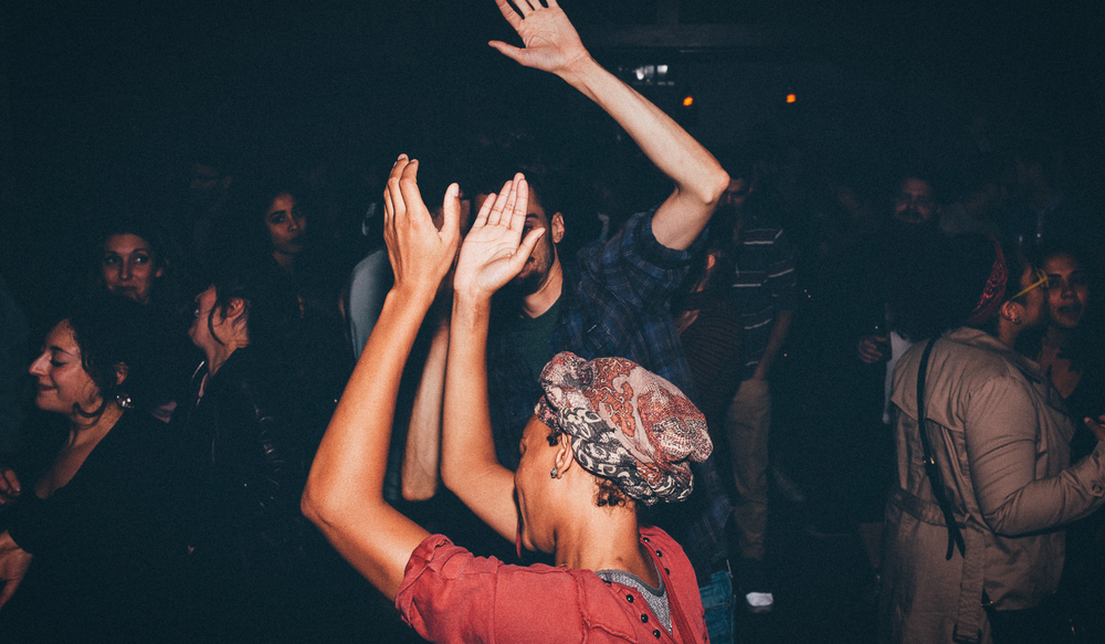 Liaison Room visual identity people dancing in club