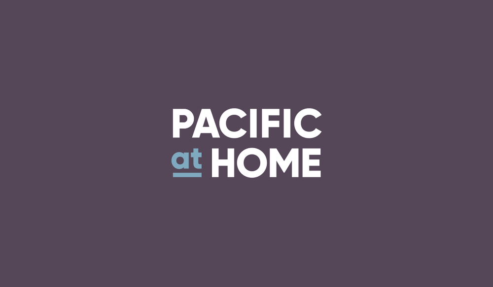 Pacific at Home visual identity wordmark