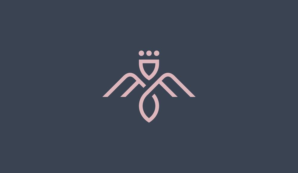 Mama Flowers visual identity logomark