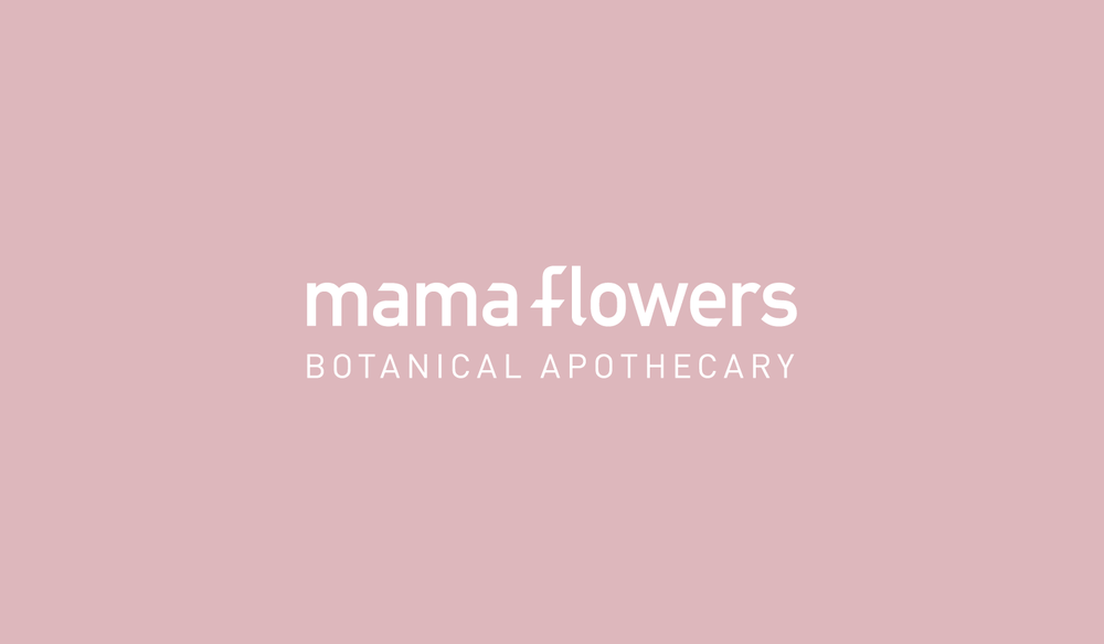 Mama Flowers visual identity logotype