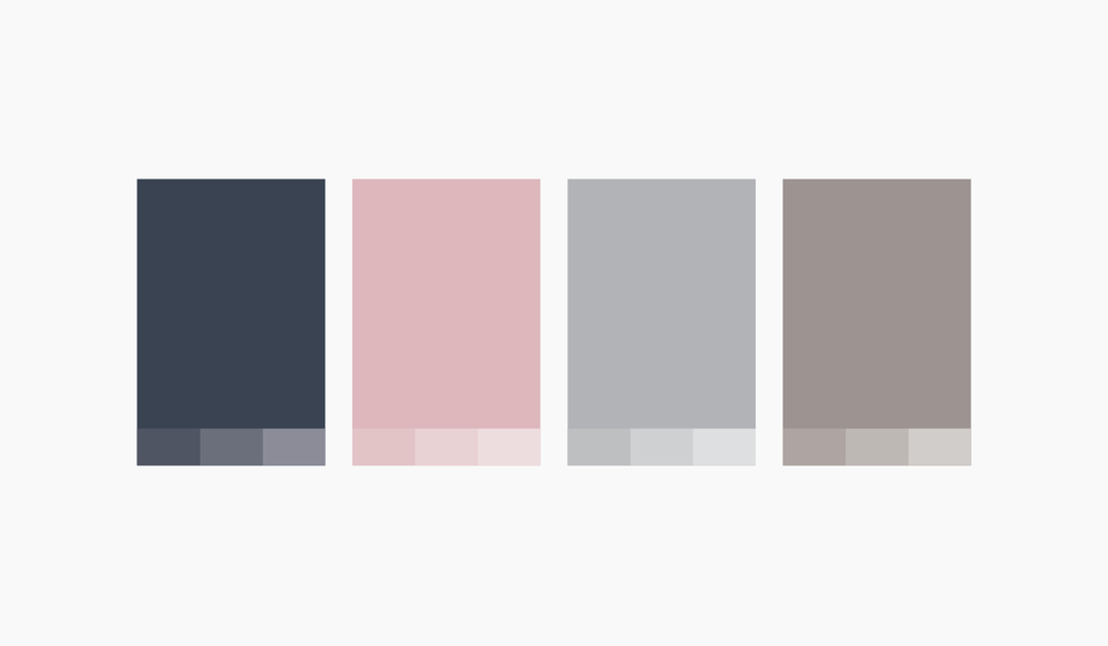 Mama Flowers visual identity color palette