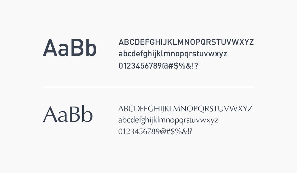 Mama Flowers visual identity typefaces