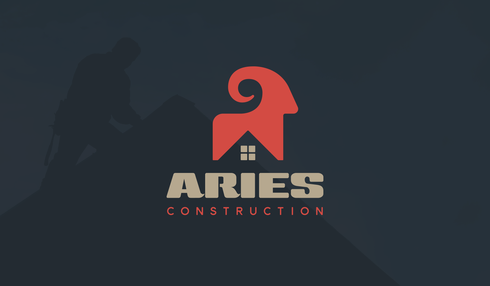 Aries visual identity logo lockup