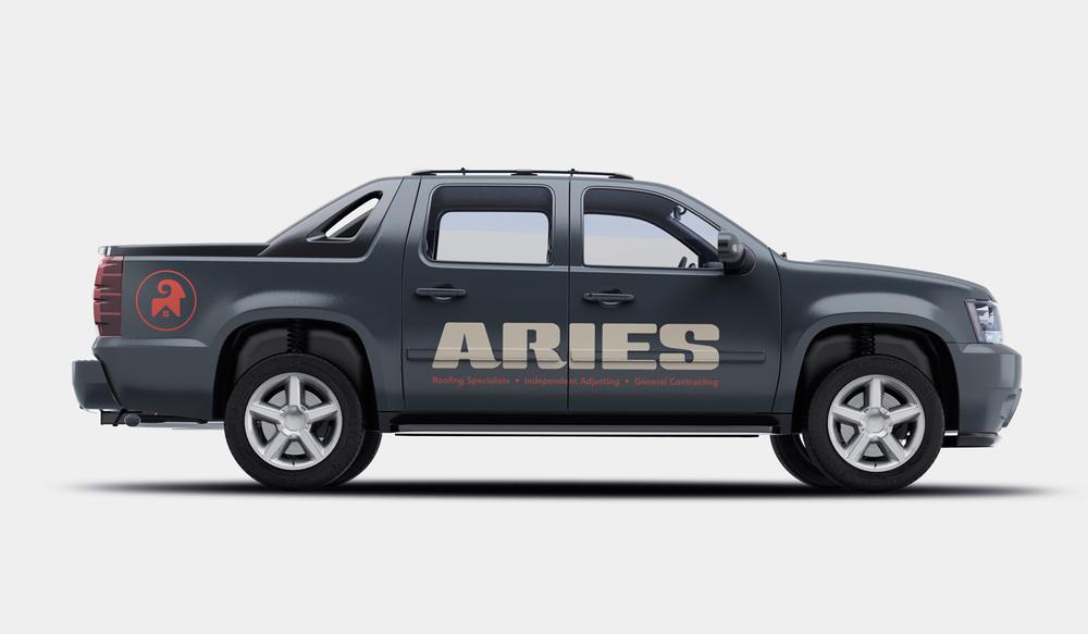 Aries visual identity truck wrap