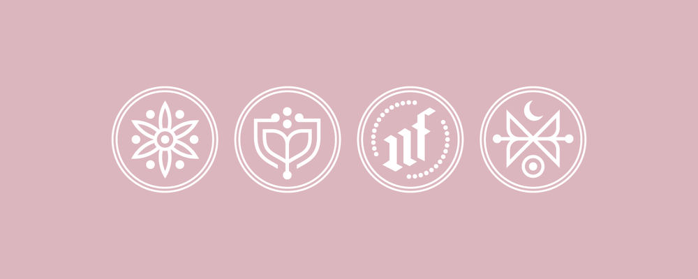 Mama Flowers visual identity icon design