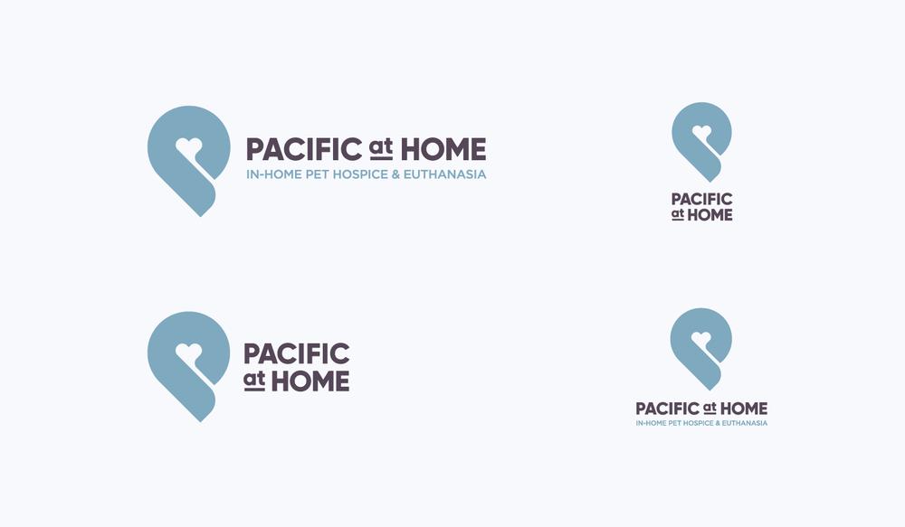 Pacific at Home visual identity logo lockups