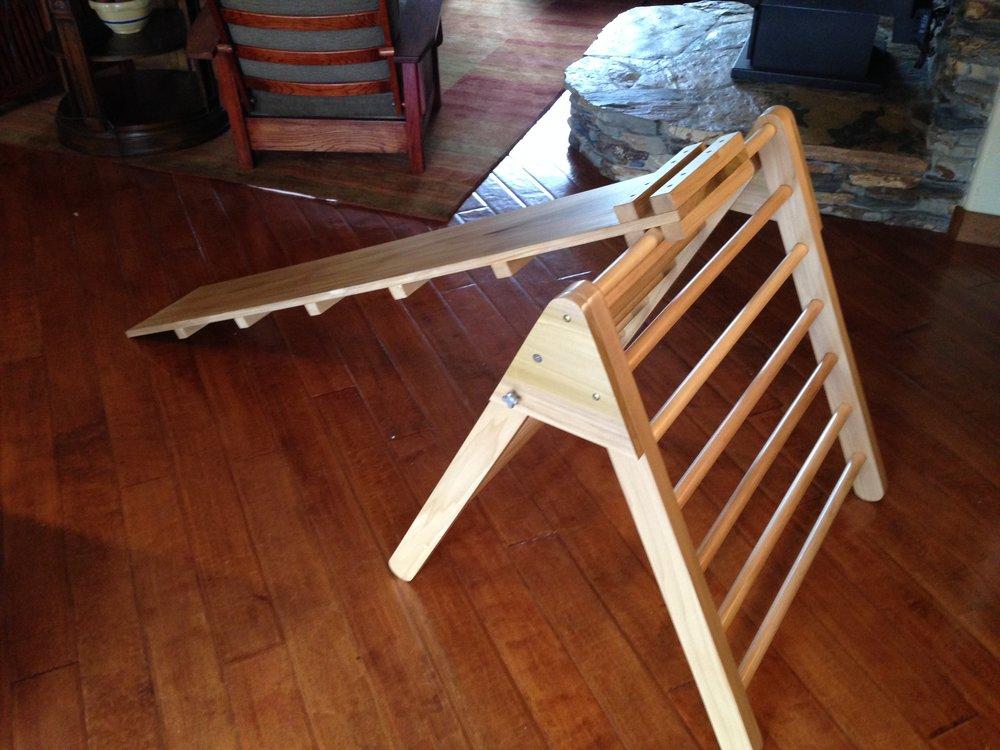 Pikler Triangle child development climbing apparatus for the grandchildren (made from Poplar)