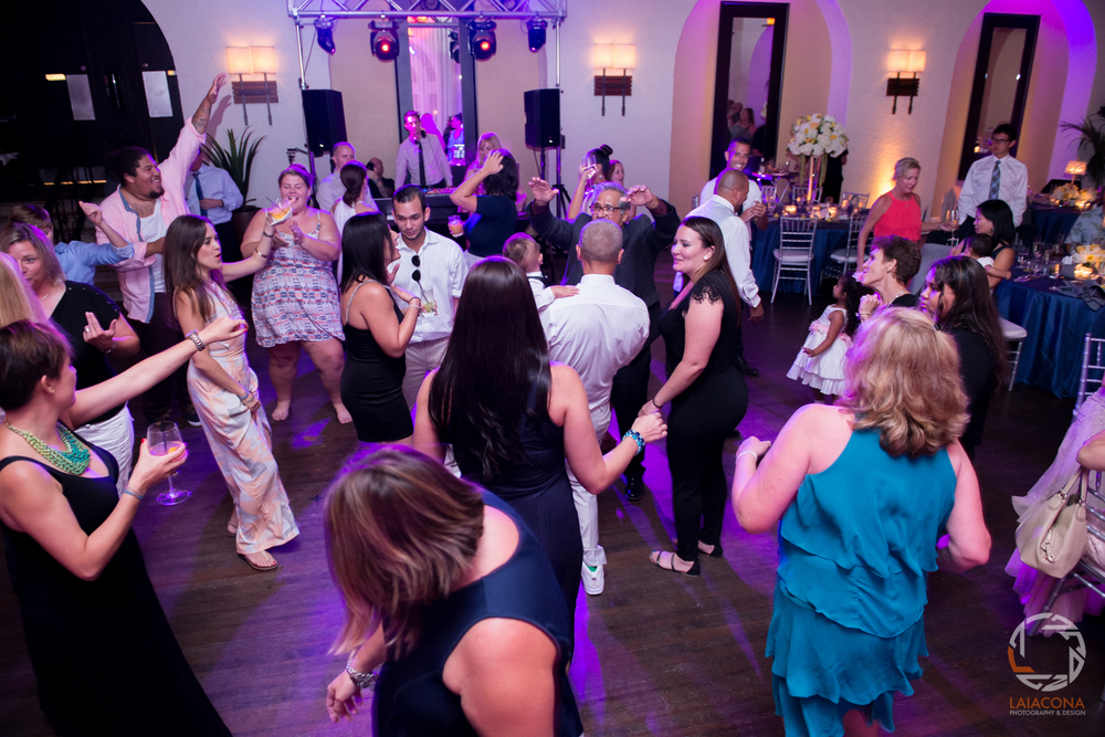And this is how the dance floor looked all night