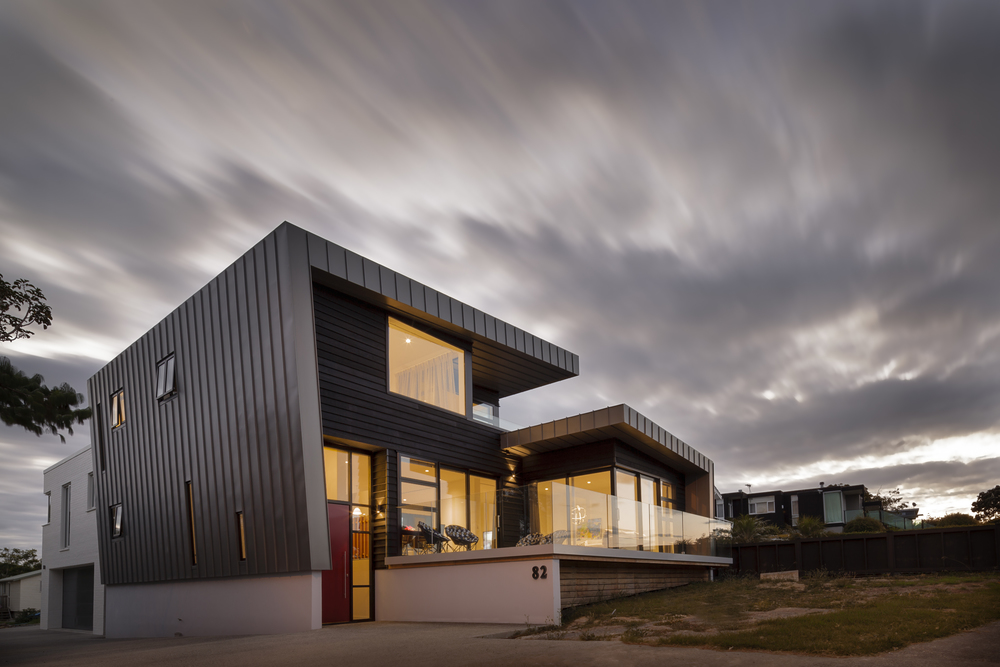 MACLAREN HOUSE ON MARINE PARADE - EXTERIOR PHOTOGRAPH DUSK