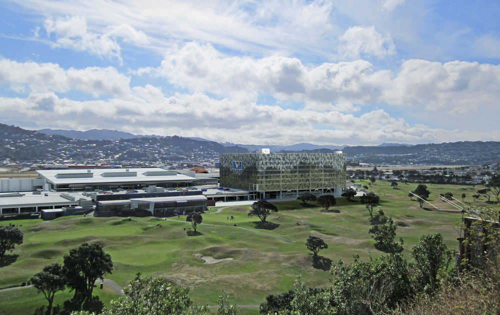archaus Carpark Design at Wellington International Airport - Golf Course View