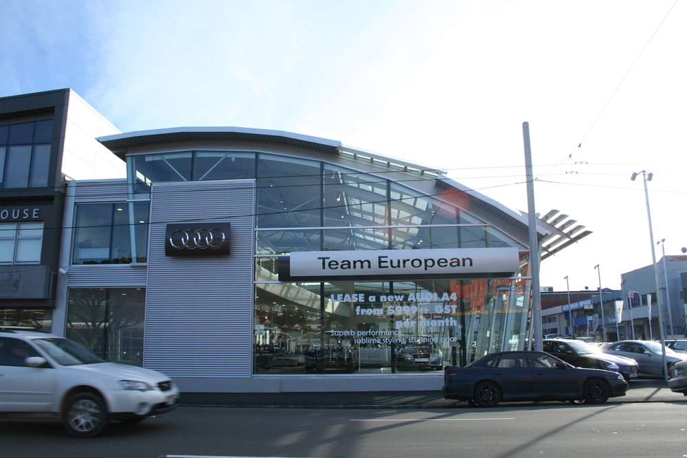 Armstrong Prestige AUDI Hanger by archaus Street Elevation