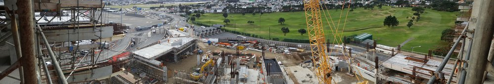 panorama of the construction site