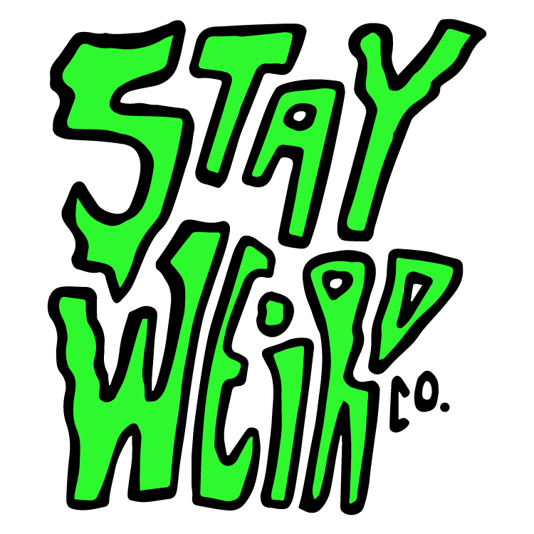 STAY WEIRD CO. WAVY LOGO