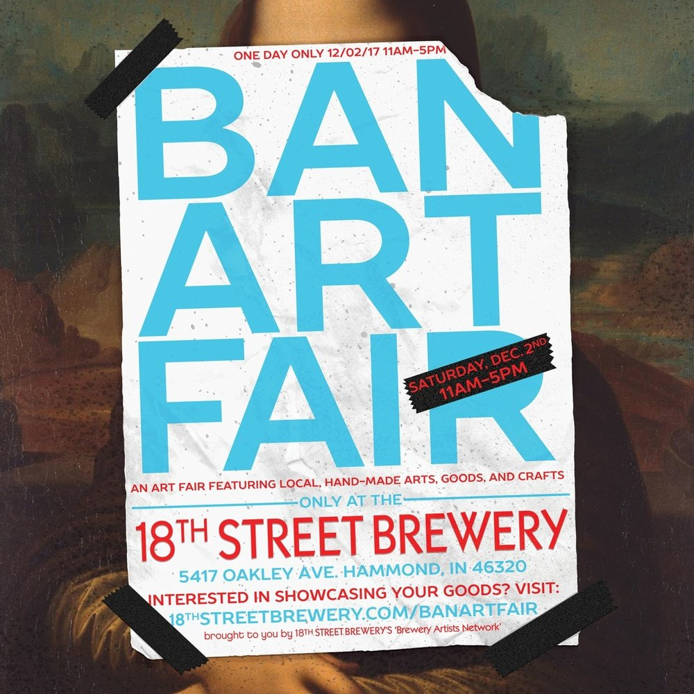 I will be at Ban Art Fair  selling screen prints, art prints, postcards, patches, and more... December 2nd at 18th Street Brewery!  Y'all come!  - Casey