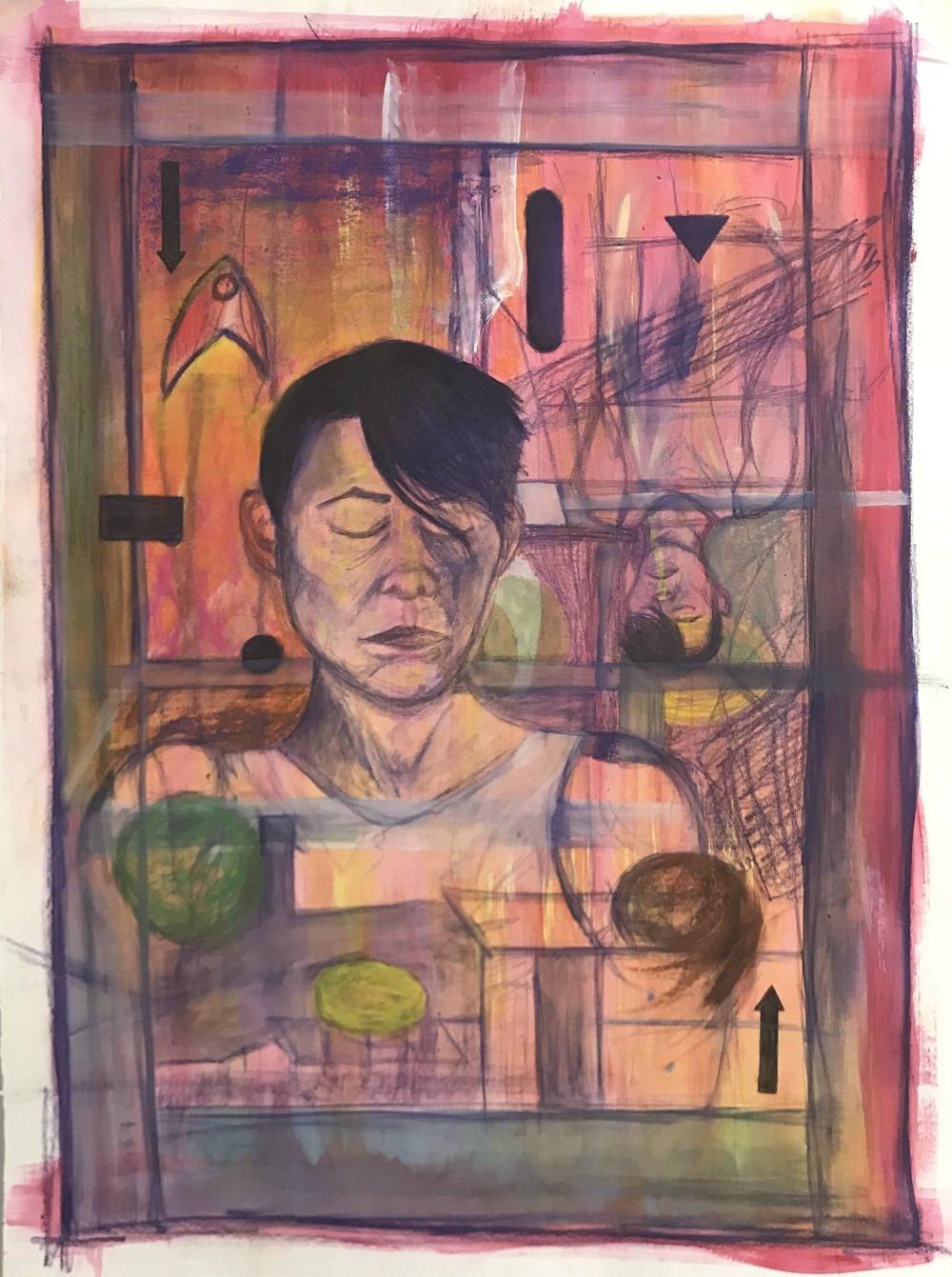 Figure Study // Painting 2 Indiana University Northwest Mixed media on paper 2018