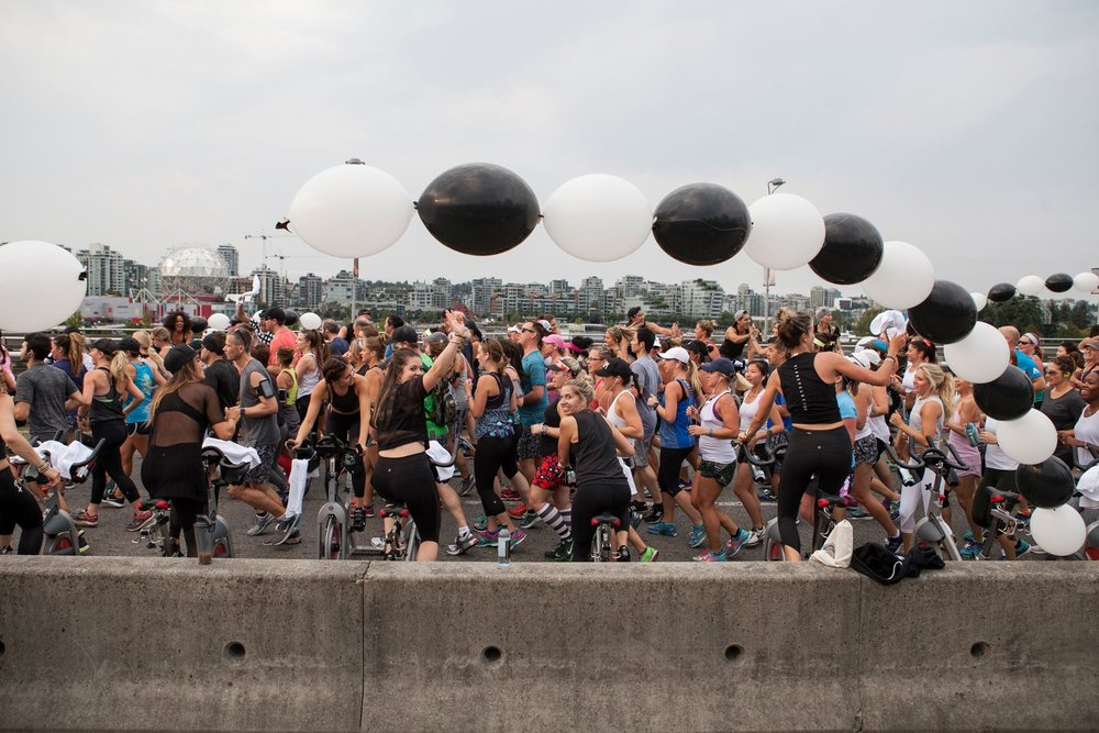 Ride Cycle Club cheer station. Photo: lululemon