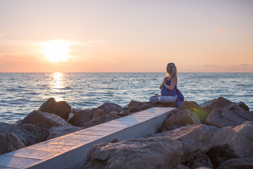 Tampa Maternity Photography: Sunset Yoga