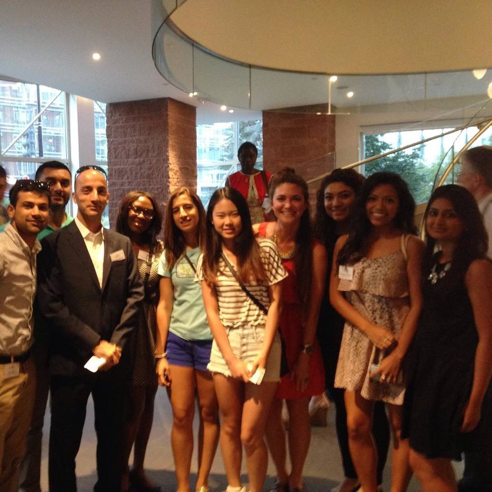 Some of my students and I at a CATO Institute lecture in Washington, DC