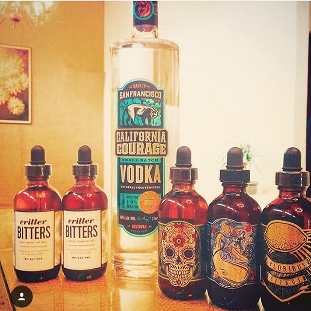 We're teaming up with our besties @sevenstills to do a bitters tasting this Sunday 4-6pm at @localcellarsf. Be there or be 🔳 #crickets #sanfrancisco #bayarea #bitters #local