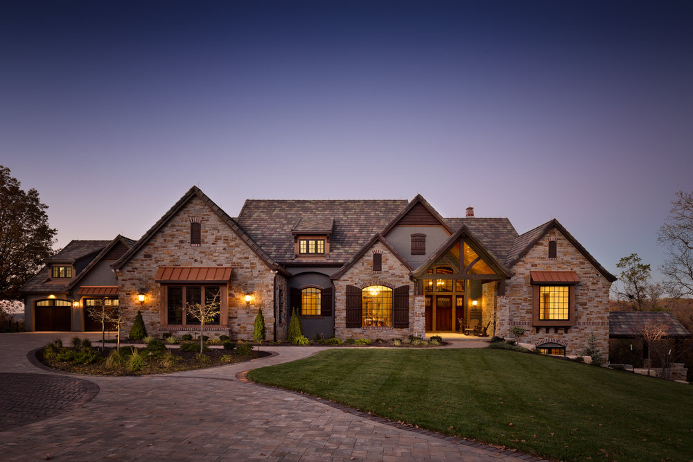 Example of a Signature Twilight Exterior. A carefully planned shot to capture mood and drama during sunset.