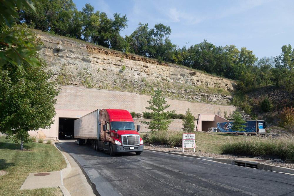 Meritex Inc needed new images to show prospective tenants the diverse use of their underground office park. Outsiders picture just underground storage, but the facility offers much more. Truck access, manufacturing, data storage, and custom office space is all possible.