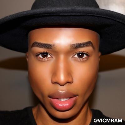 Me on a good contour/makeup day LOL.