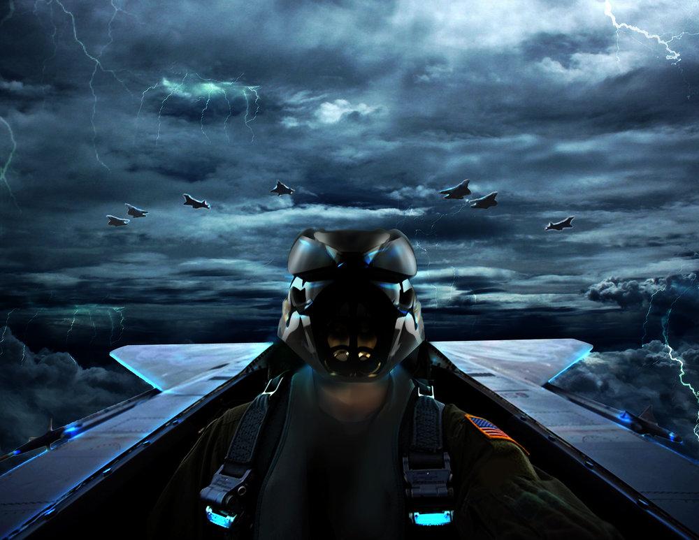 F-22 Raptor - F-22 Raptor | Pilot Helmet - 0259565-ATX