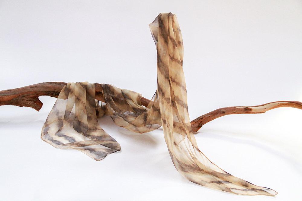 Silk chiffon - eucalyptus dip dye