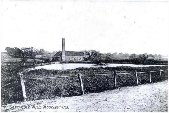 Photo 1 – A view of Sarehole Mill taken across the millpond from Wake Green Road in 1905. What is most noticeable is how few trees there are!