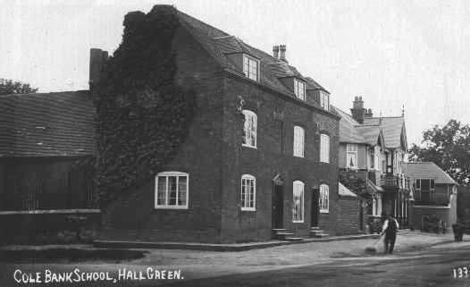 "Photo 2 – Cole Bank School, once situated on the corner of Stratford Road and School Road. Next door is the pub once known as the Horse Shoe Tavern, now the Horseshoe which apparently offers ""north Indian and Modern British cuisine""."