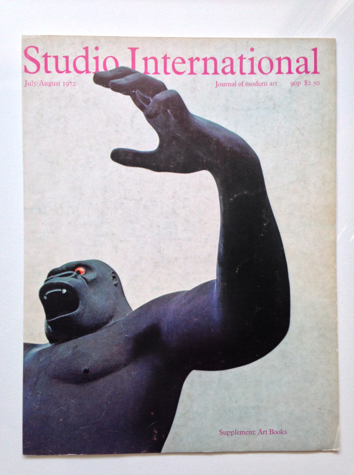 Studio International Cover – 1972 Cover