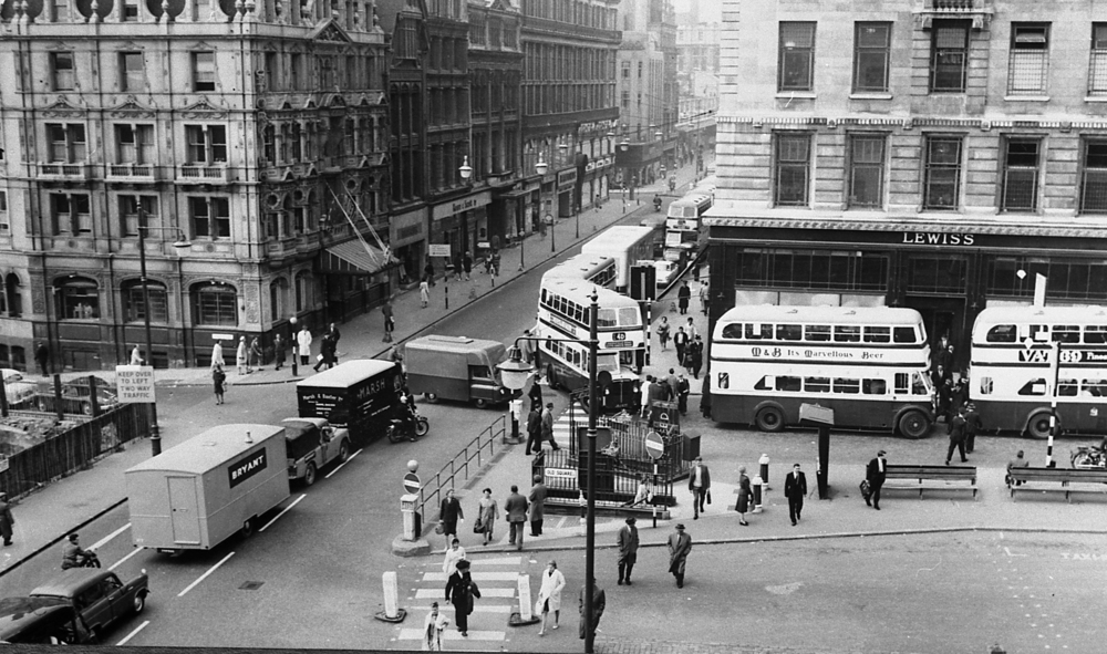 Lewis's on the corner of Old Aquare, to the right, and corporation street - the store where we all went to see Father Christmas