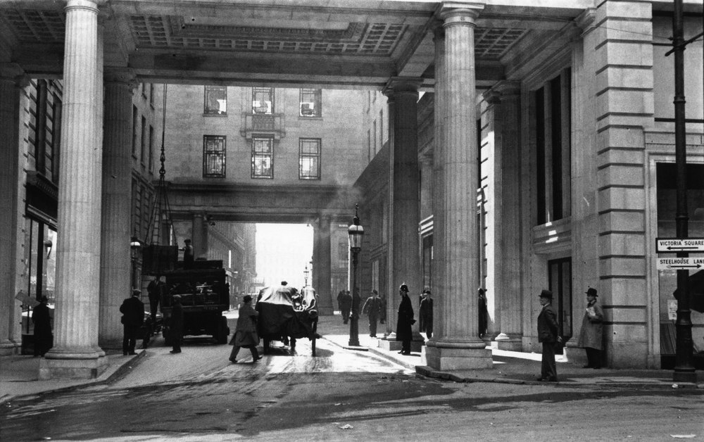 The Minories Old Square looking towards Bull Street 1930s