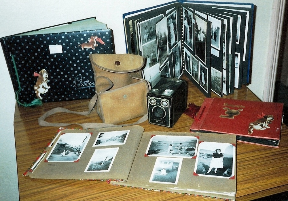 Irene's Box Brownie and photo albums - Christmas presents from when she was younger.jpg
